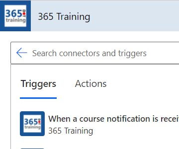 Using the 365.Training Connector thumbnail image