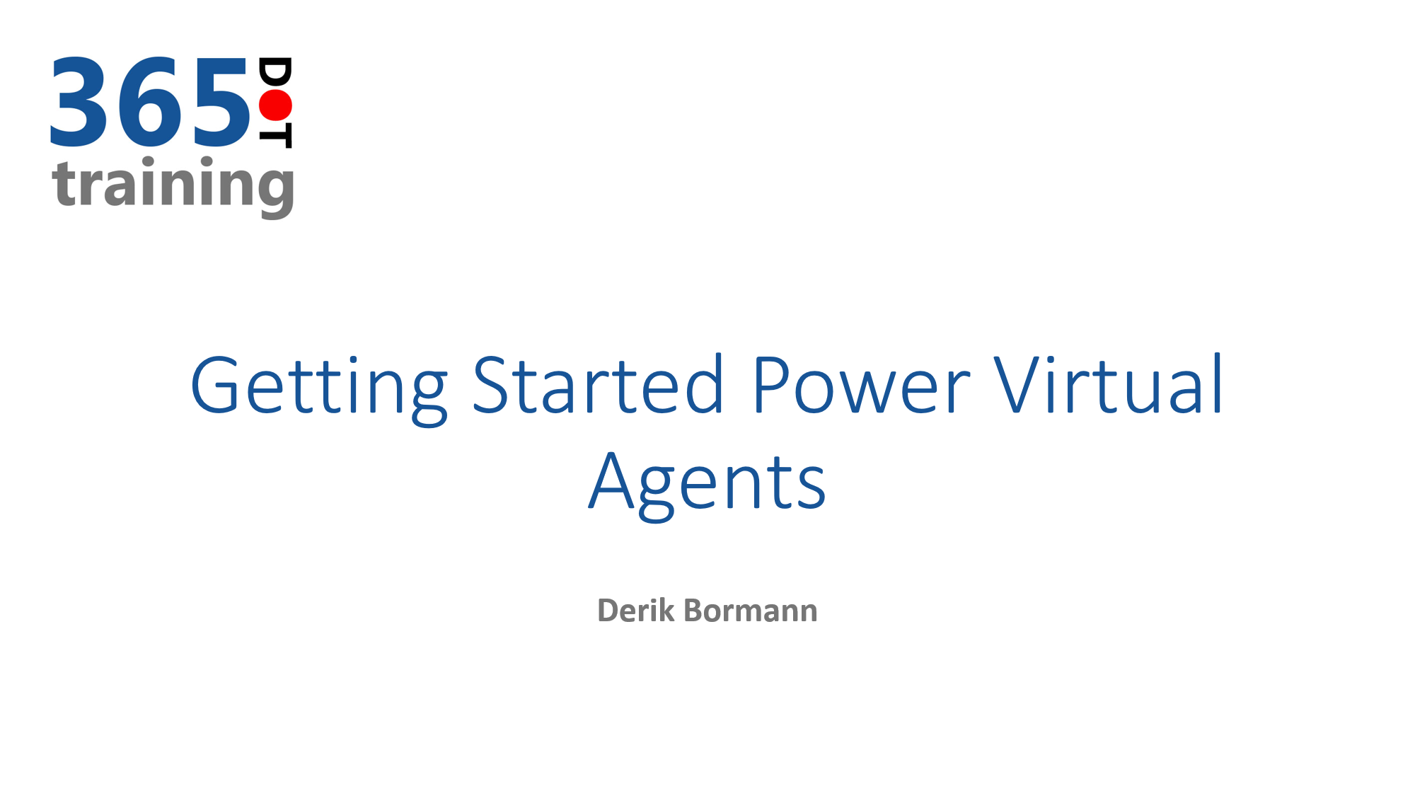 Getting started with Power Virtual Agents cover image